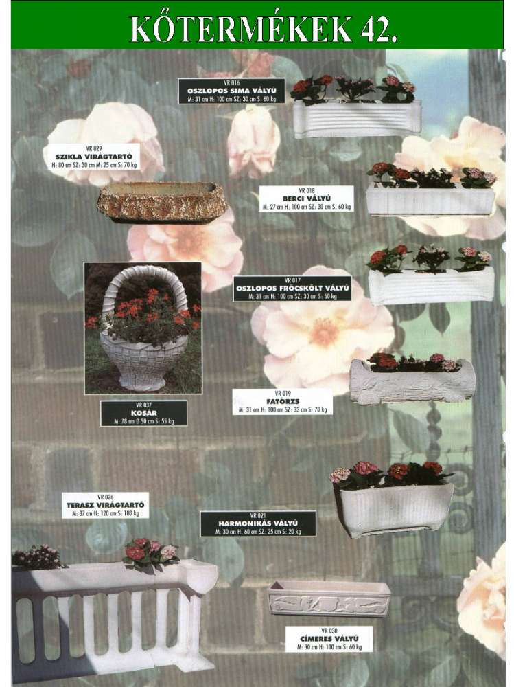 Kispamacs Kft  -  Beton kertépítő termékek